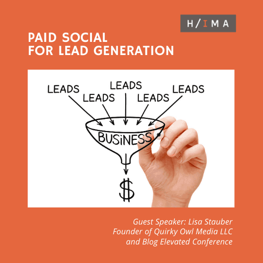 Houston IMA November Luncheon on Paid Social for Lead Generation